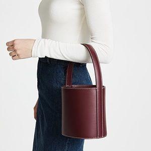 NEW STAUD Bordeaux Bissett Bucket Bag